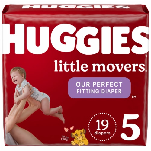 Huggies Little Movers Size 5 Diapers Perspective: front