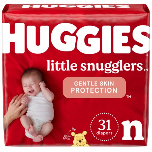 Huggies Little Snugglers Newborn Size Baby Diapers Perspective: front