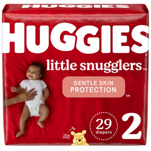 Huggies Little Snugglers Size 2 Baby Diapers Perspective: front
