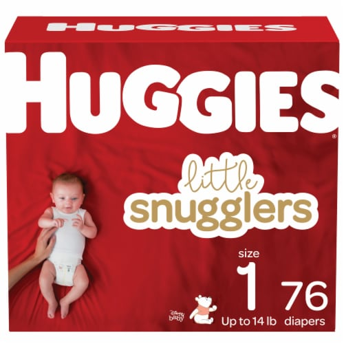 Huggies Little Snugglers Diapers Size 1 Perspective: front