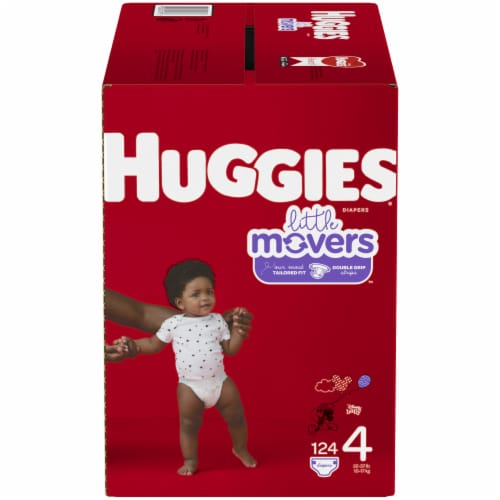 Huggies Little Movers Diapers Size 4 Perspective: front