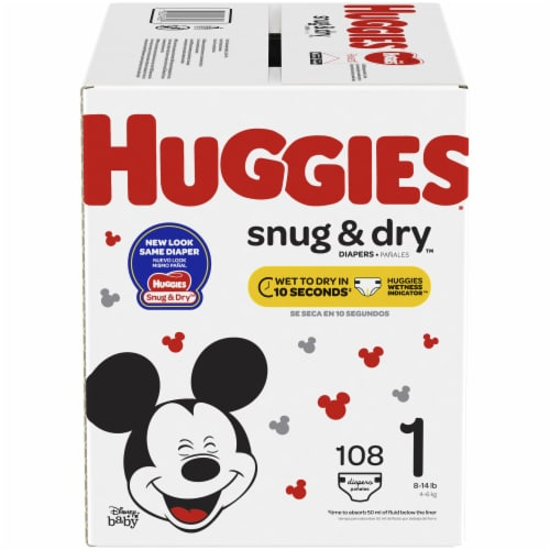 Huggies Snug & Dry Size 1 Diapers Perspective: front