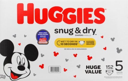 Huggies Snug & Dry Size 5 Baby Diapers Perspective: front