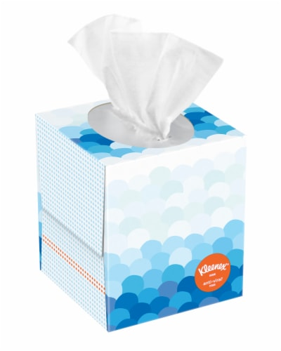 Kleenex Anti-Viral Facial Tissues 60 Count Perspective: front