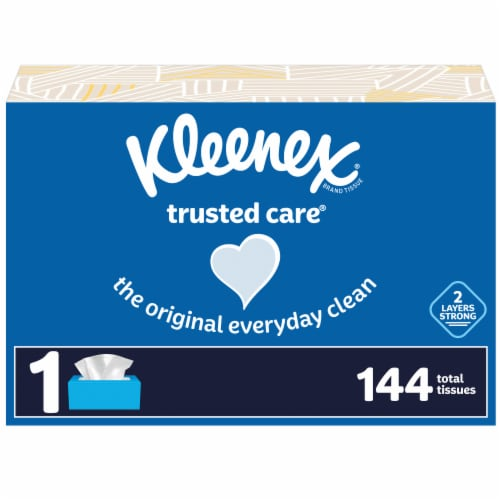Kleenex Trusted Care Everyday Facial Tissues Perspective: front