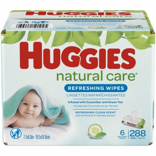 Huggies Refreshing Clean Baby Wipes Perspective: front