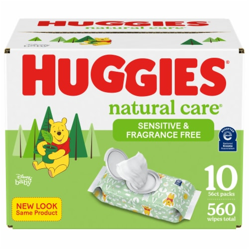 Huggies Natural Care® Sensitive Fragrance Free Baby Wipes Perspective: front