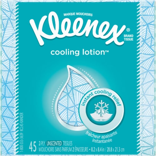 Kleenex Cooling Lotion Facial Tissues 45 Count Perspective: front