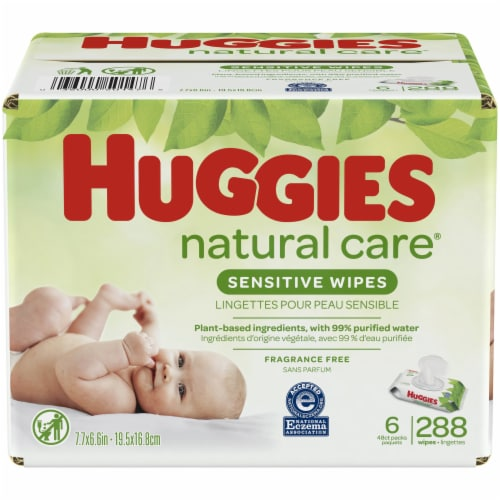 Huggies Natural Care Fragrance Free Baby Wipes Perspective: front