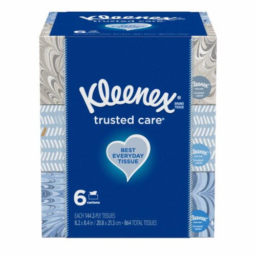 Kleenex Trusted Care Everyday Tissues Perspective: front
