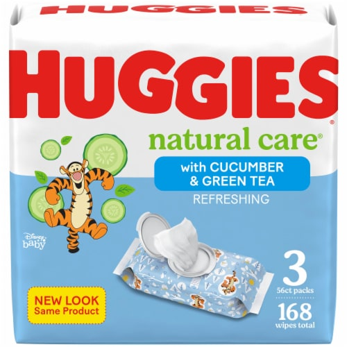 Huggies Natural Care Refreshing Clean Scent Baby Wipes Perspective: front