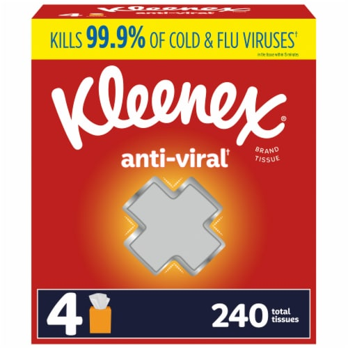 Kleenex Anti-Viral Facial Tissues Perspective: front