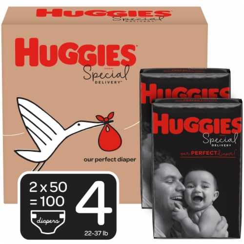 Huggies Special Delivery Size 4 Baby Diapers 100 Count Perspective: front