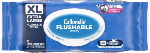 Cottonelle Extra Large Flushable Wipes Perspective: front