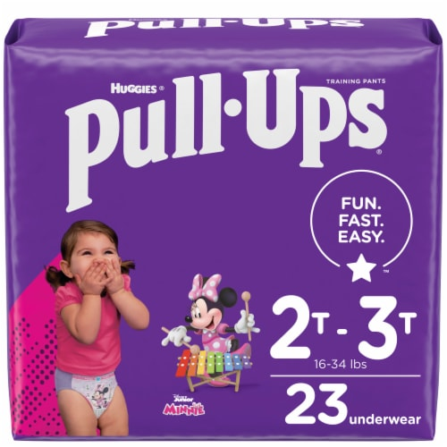 Pull-Ups Learning Designs 2T-3T Girls' Training Pants Perspective: front