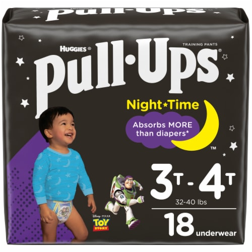 Pull-Ups Night-Time Boys' Training Pants 3T-4T Perspective: front