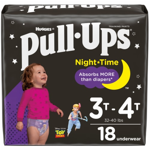 Pull-Ups Night-Time Girls' Training Pants 3T-4T Perspective: front