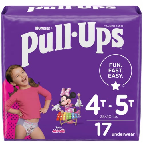 Pull-Ups Learning Designs 4T-5T Girls' Training Pants Perspective: front