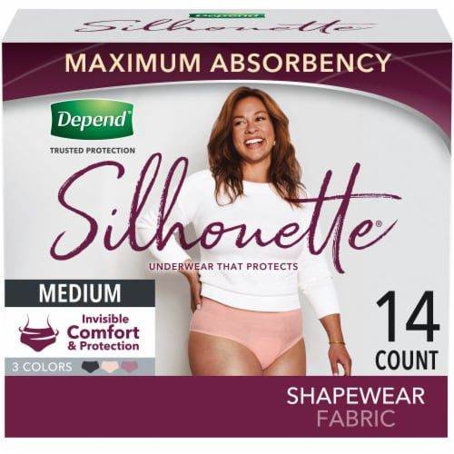 Depend Silhouette Incontinence Underwear for Women Maximum Absorbency Size Medium Perspective: front