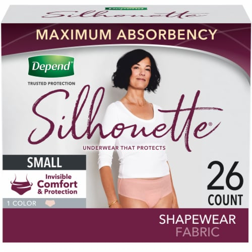Depend Women Silhouette Max Small Underwear Perspective: front