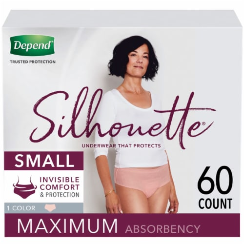 Depend Silhouette Maximum Absorbency Underwear for Women - Pink Perspective: front