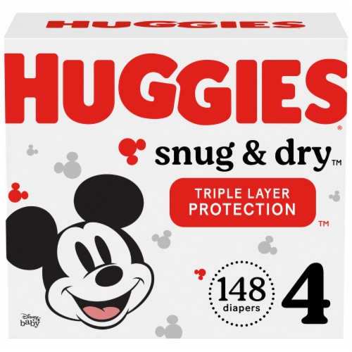 Huggies Snug & Dry Size 4 Diapers Perspective: front