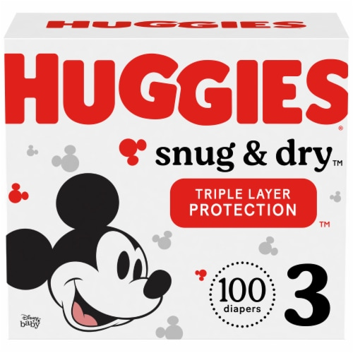 Huggies Snug and Dry Size 3 Diapers Perspective: front