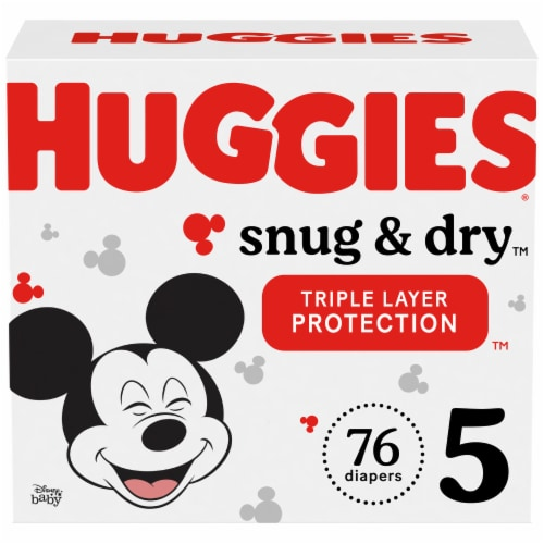 Huggies Snug & Dry Size 5 Junior Baby Diapers Perspective: front