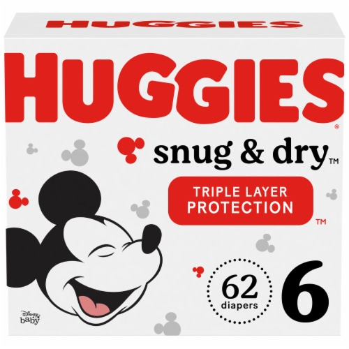 Huggies Snug & Dry Size 6 Diapers Perspective: front