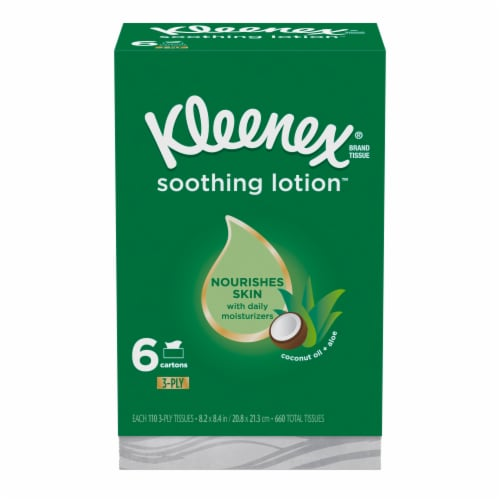 Kleenex Soothing Lotion Tissues Perspective: front