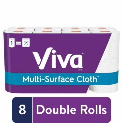 Viva® Multi-Surface Cloth™ Choose-A-Sheet Double Roll Paper Towels Perspective: front