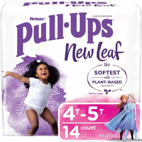 Pull-Ups New Leaf Girls 4T-5T Size Training Pants Perspective: front