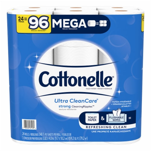 Cottonelle Ultra CleanCare Toilet Paper Perspective: front