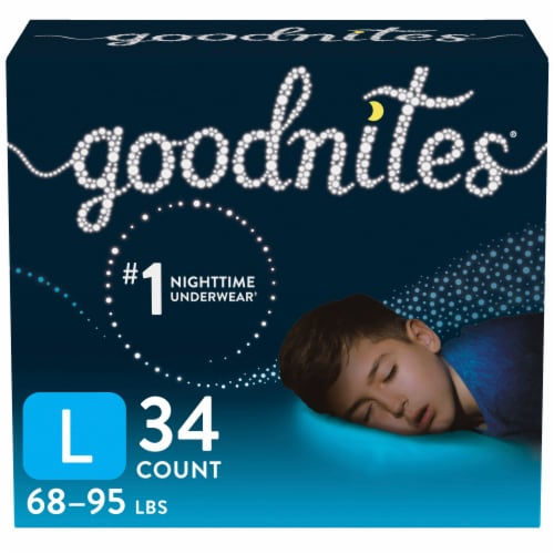GoodNites Youth Size Large Boy's Nighttime Underwear Perspective: front