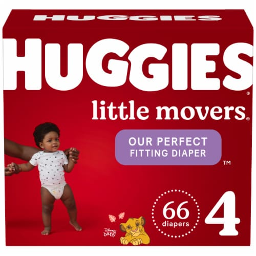 Huggies Little Movers Size 4 Baby Diapers Perspective: front