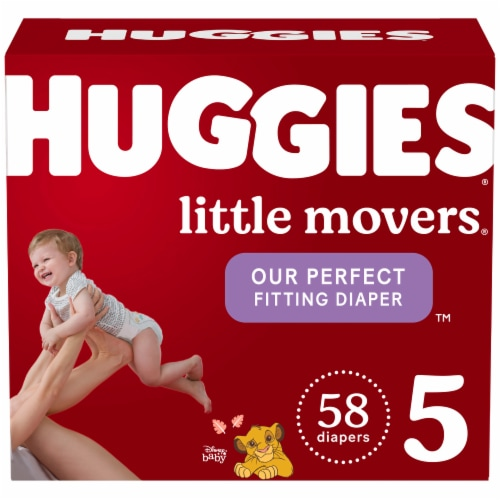 Huggies Little Movers Size 5 Baby Diapers Perspective: front