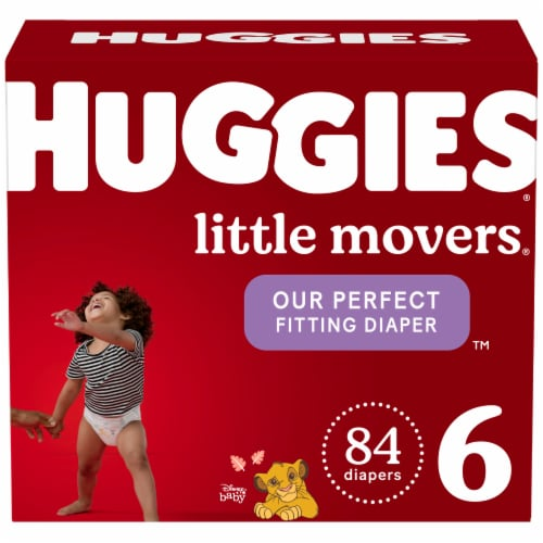 Huggies Little Movers Size 6 Baby Diapers Perspective: front