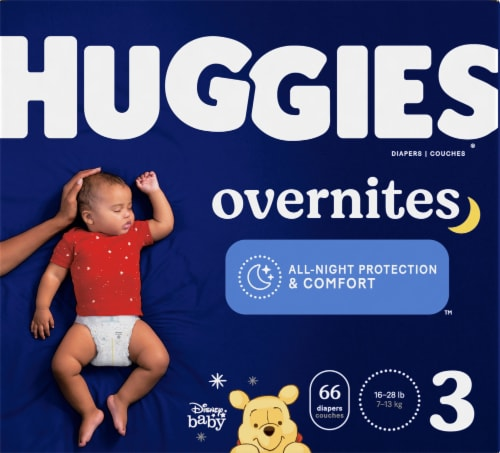 Huggies Overnights Size 3 Diapers Perspective: front