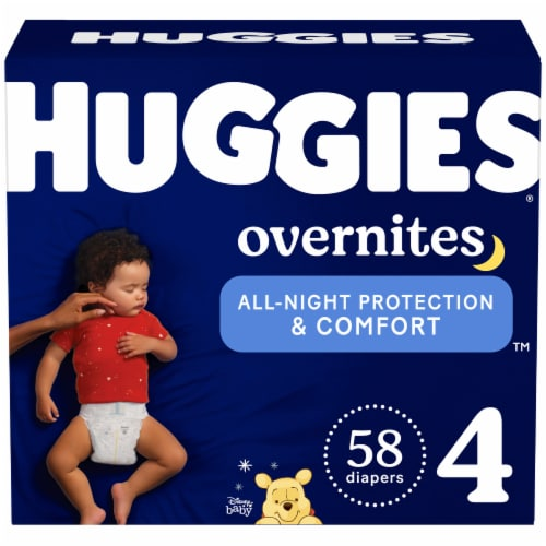 Huggies Overnites Size 4 Baby Diapers Perspective: front