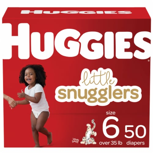 Huggies Little Snugglers Size 6 Diapers Perspective: front