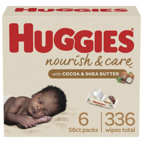 Huggies Nourish & Care Baby Wipes Perspective: front