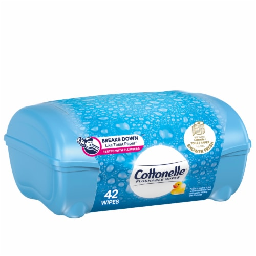 Cottonelle FreshCare Flushable Wipes Perspective: front