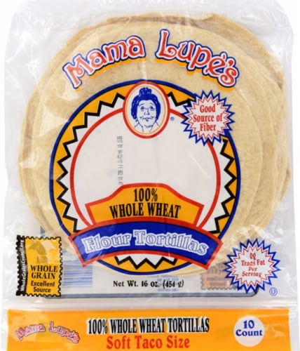 Mama Lupe's Whole Wheat Flour Tortillas Perspective: front