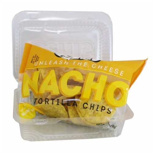 Gehls Tortilla Chips with Plastic Tray - 3 oz. bag, 30 per case Perspective: front