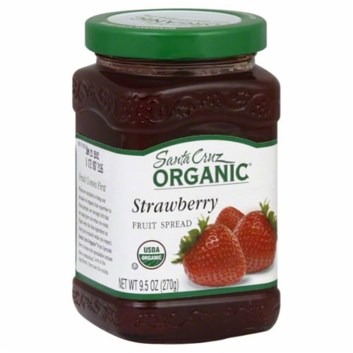 Santa Cruz Organic Strawberry Fruit Spread Perspective: front