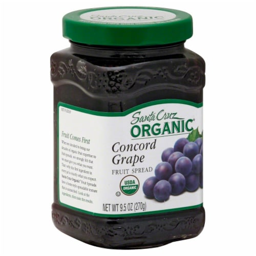Santa Cruz Organic Concord Grape Fruit Spread Perspective: front