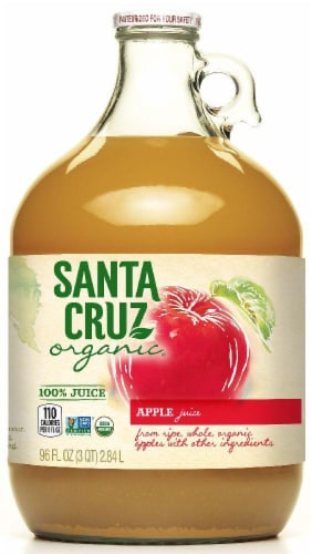 Santa Cruz Organic Apple Juice Beverage Perspective: front
