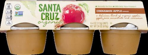 Santa Cruz Organic Applesauce Cups- Cinnamon Perspective: front