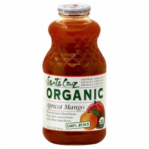 Santa Cruz Organic Apricot Mango Juice Beverage Perspective: front