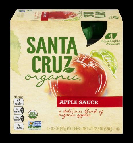 Santa Cruz Organic Apple Sauce Pouches Perspective: front